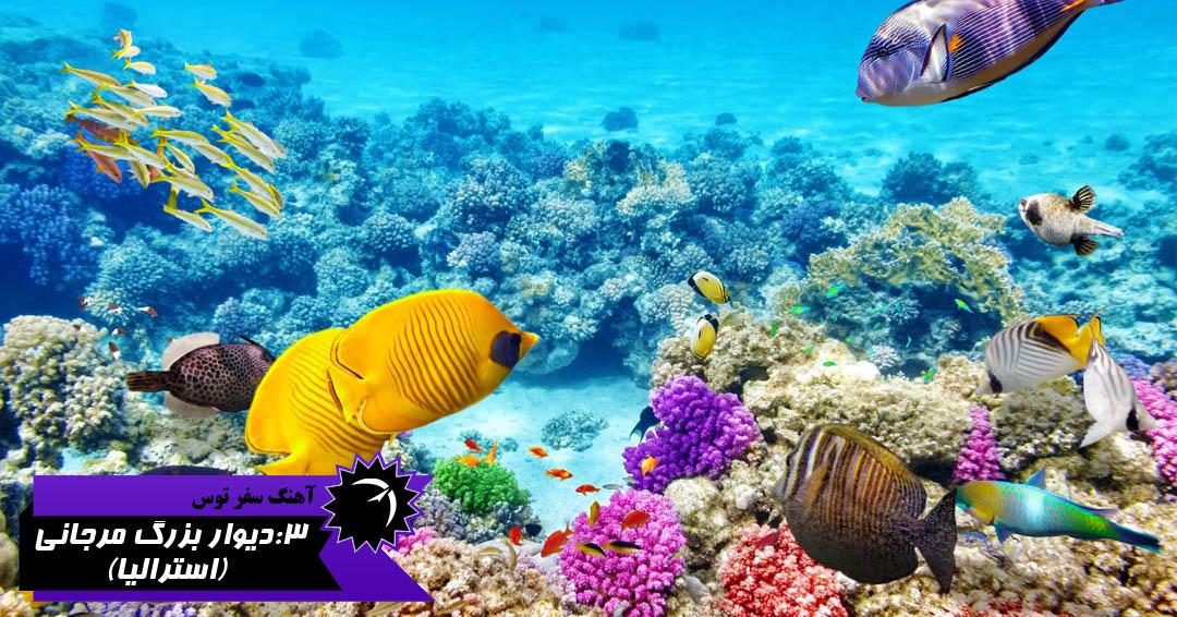 میراث جهانی یونسکو دیوار بزرگ مرجانی استرالیا